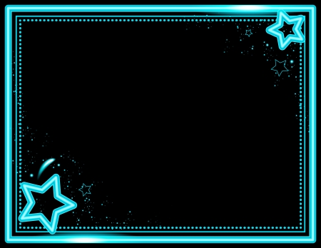 Neon Star Frame Vector
