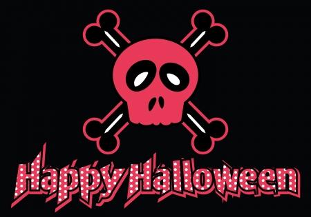 happy halloween: Happy Halloween skull and crossbones