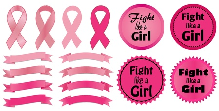 Breast Cancer Awareness-Fight like a Girl Stock Vector - 22139503