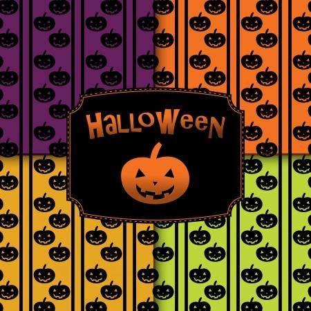 Halloween pumpkins seamless pattern background