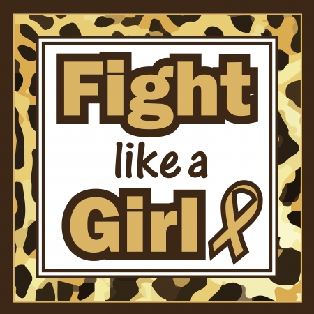 Breast Cancer Awareness-Fight like a Girl Vector