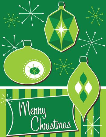 christmas ornaments: Retro Christmas Ornaments