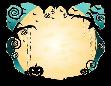 Halloween Grungy Background Vector