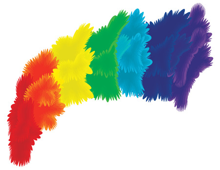 Spectrum feather abstract background 일러스트