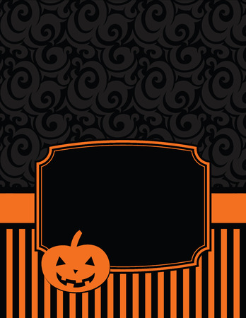 notecard: Elegant Striped Halloween Notecard with copy space Illustration