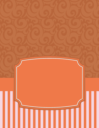 notecard: Elegant Striped Notecard with copy space