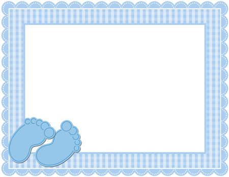 Baby Boy Gingham Frame Vectores