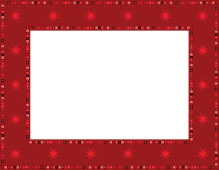 folkart: Christmas Star Frame Illustration