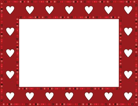 folkart: Red Gem Heart Frame