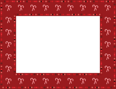 Christmas Candy Cane Frame 일러스트