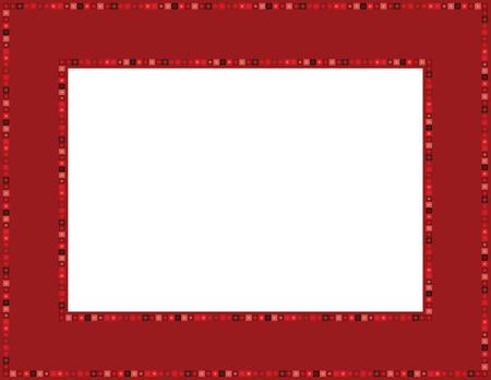 folkart: Red Gem Frame