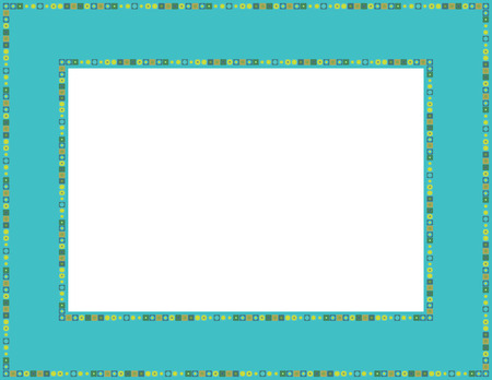 Beaded patterned frame with mosaic border 일러스트