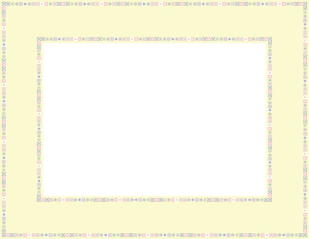 folkart: Beaded patterned frame with mosaic border Illustration