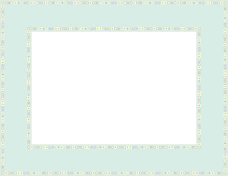 Beaded patterned frame with mosaic border which can be used for baby showers, Easter, Thanksgiving, Christmas invites, Valentines invite or other occasions Çizim