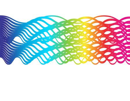 Braided Spectrum- Abstract spectrum gradient in braided pattern