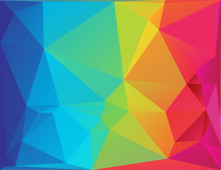 Abstract polygon spectrum background-Differently sized triangular shape in full color spectrum Ilustração