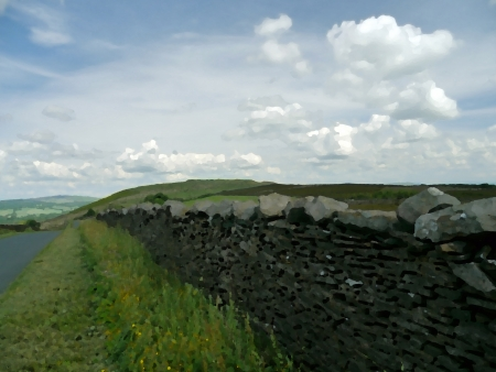A country lane inside the Trough of Bowland Area of Oustanding Natural Beauty