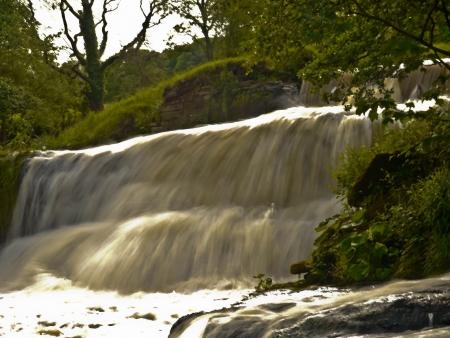 Hoghton Waterfall Stock Photo
