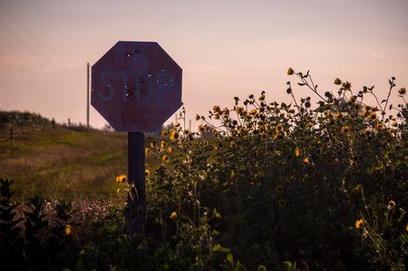 gunshot: A beautiful landscape located in South Dakota. Stock Photo