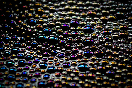 A large collection of colorful bubbles. Stok Fotoğraf