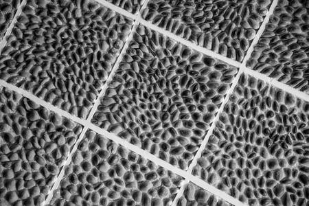 An interesting stone tile arrangement.