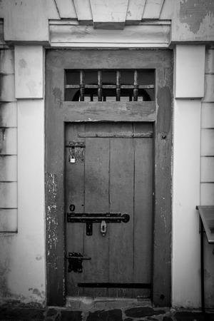 A very old castle door. Stok Fotoğraf