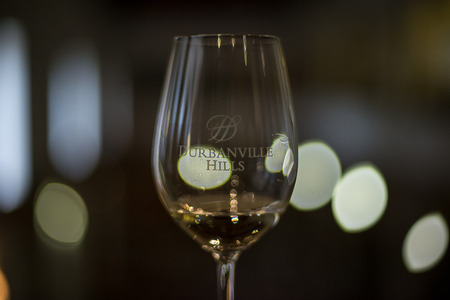 A lovely glass of Durbanville Hills wine.