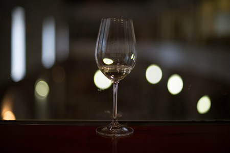 A lovely wine glass in a winery.