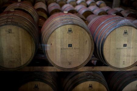 wine stocks: A grouping of winery machinery. Stock Photo
