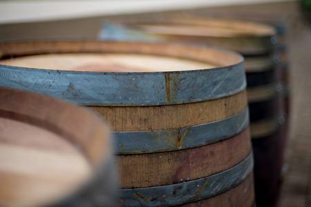 A group of wine barrels.