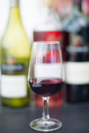 wine stocks: A glass of lovely red wine. Stock Photo