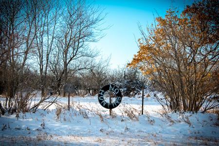 Een mooi landschap gelegen in Zuid-Dakota. Stockfoto