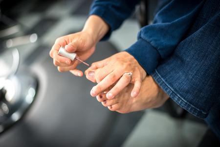 Painting Nails 版權商用圖片