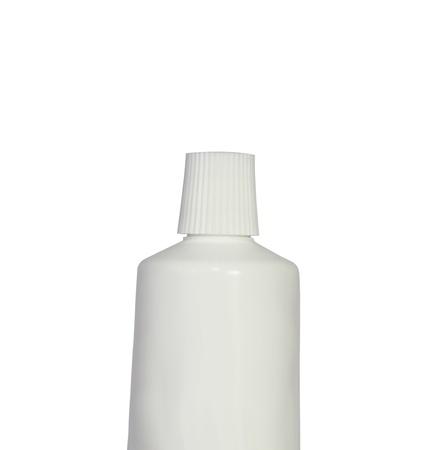 Plain toothpaste tube against a white background Stock Photo - 18120448