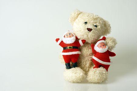 romantics: teddy bear in christmas