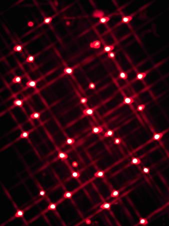 red neon lights