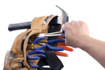herramientas de carpinteria: herramientas de carpinter�a en el cintur�n