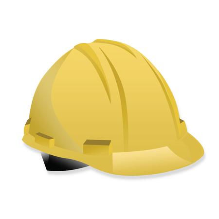 illustration of isolated yellow helmet on white background illustration