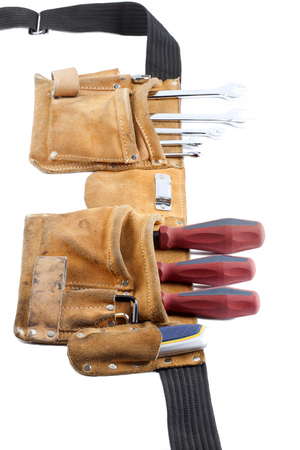 tool belt with screwdriver and spanner