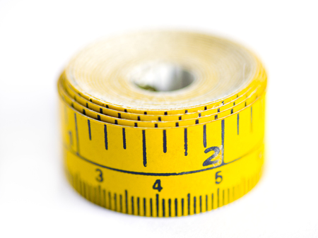 Up Close Measuring Tape Banco de Imagens