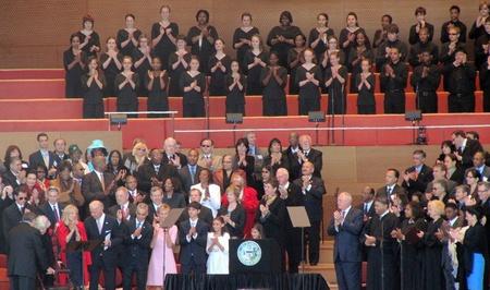 feestelijke opening: Maggie Daley tijdens Mayoral Inhuldiging, Chicago