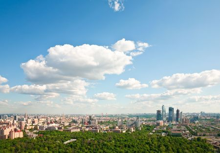 Moscow city - capital of Russian Federation. Aerial view. 版權商用圖片 - 4929704