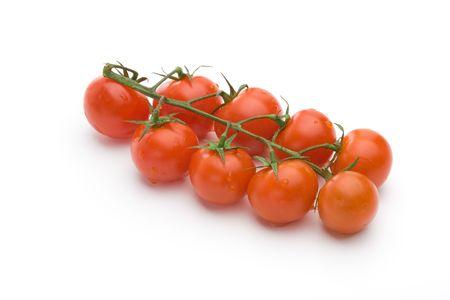 Cherry tomatos isolated on a white background 版權商用圖片 - 6856440