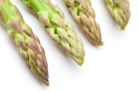 Sprouts of asparagus isolated on a white background 版權商用圖片 - 6884100