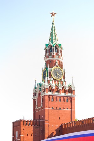 Spasskaya Tower in the Moscow city 版權商用圖片 - 6993105