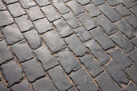 Pathway pattern of paving stones 版權商用圖片