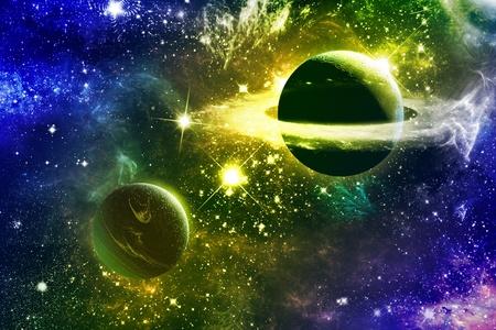 Universe galaxy nebulas stars and planets 版權商用圖片 - 9170002
