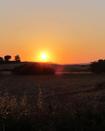 tuscia: sunset