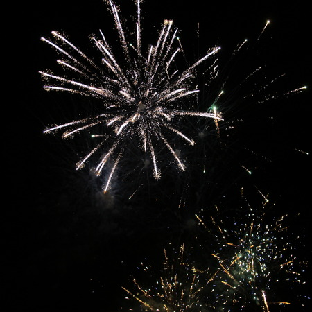 recurrence: fireworks Stock Photo