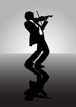 violist: Een man het afspelen van muziek op een viool.
